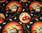 Halloween Fabric, By The Yard, RTC Fabrics, Pumpkins, Ghost Fabric, Bats, Quilting Fabric, Crafting Sewing Fabric, Novelty Fabric