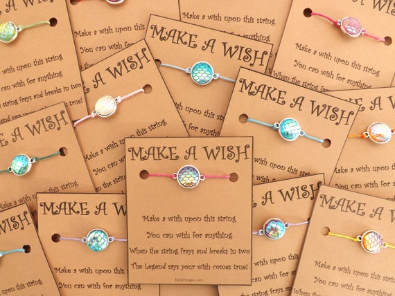 10 - 20 Mermaid Scale Birthday Party Wish Bracelets