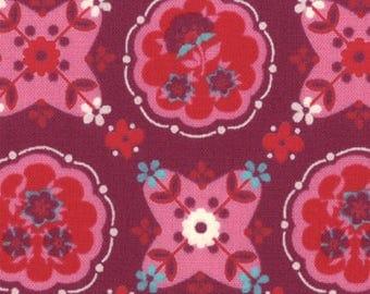 Liz Scott Fabric, Domestic Bliss by Liz Scott for Moda Fabrics, 18072-11 Kitchenette Eggplant
