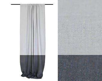 blackout curtain color block curtain panels grey curtain linen window drapes geometric