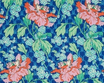 1 Yard Amy Butler VIOLETTE FLORAL POPPY Westminster Poppies Garden PWAB136 sky Free Spirit Quilting Sewing Fabric