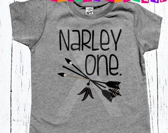 First Birthday tee shirt unisex Narley one shirt kids boy one boho arrows tee shirt