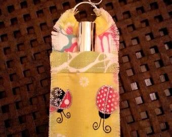 Cute Glittery Ladybug Lip Gloss Holder Keychain for Women, Stocking Stuffer, Gift for Sister, Mom, Lip Gloss Key Chain, Lip Gloss Cozy