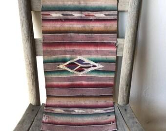 1940s Navajo Pastel Table Runner  As Is