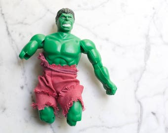Vintage 1970s Marvel Mego The Incredible Hulk Action Figure | 1974 Rare Toy in Need of Love