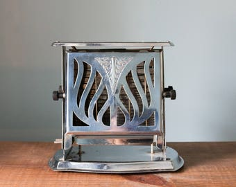 Vintage 1930 Royal Rochester Model 13260 Chrome Electric Toaster
