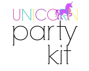 Unicorn Birthday Party Kit! Birthday Party in a Box! Unicorn Party Supplies