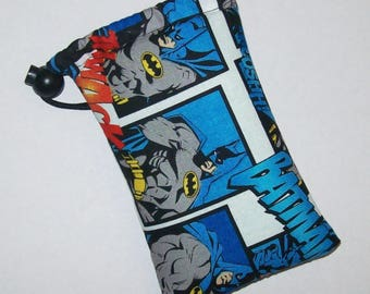 """Pipe Pouch, Batman Bag, Pipe Case, Pipe Bag, Glass Pipes, Padded Pipe Pouch, 420, Nerd Gifts, Superhero, Smoke Accessory - 5"""" DRAWSTRING"""