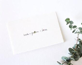 Simple Wedding Card - Wedding Shower Invitation - Wedding Equation