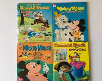 1970's Disney Whitman Tell A Tale Books