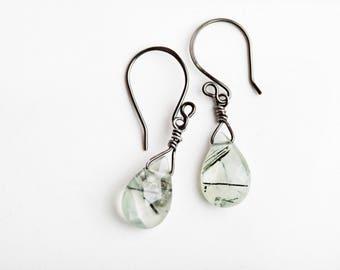 Green Prasiolite Earrings, Green, Prasiolite Earrings, Green Amethyst, Green Gemstone Earrings, Green, Gemstone Earrings, Teardrop Earrings
