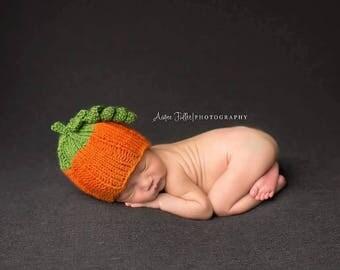 halloween pumpkin baby hat - newborn pumpkin hat prop - pumpkin baby shower - pumpkin baby hat -
