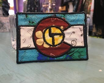 Disco Biscuits Colorado Flag Iron on Patch ~ READY TO SHIP