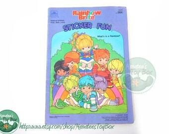 Vintage Rainbow Brite Sticker Fun Book 1980s