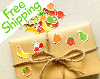 Waterproof Fruits Stickers 60 Pcs, Party Favors, Goodie Bag Seals, Gift Decoration, Planner Stickers, Shopping Sticker, Sticker Labels, DIY