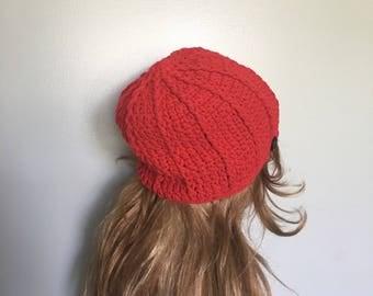 SALE Crochet Beanie - RED