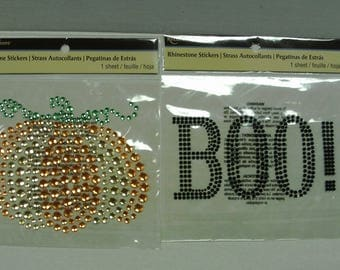 X-Large Bling Halloween Stickers