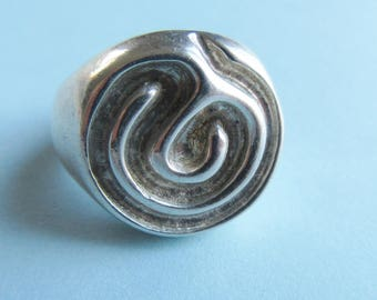 Robert Lee Morris Sterling Silver Swirl Ring Size 9 RLM Studio