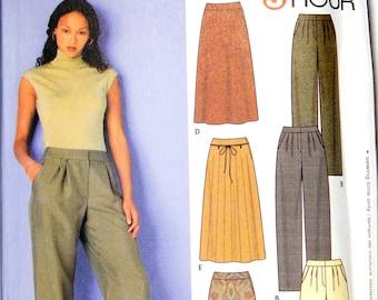 Supplies Pattern Womens Pants Skirt Size 16 28 20 22 Simplicity 9479