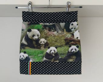 Tricot kinderrokje panda, tricot rokje pandabeer, panda skirt, jersey girls skirt, knit skirt panda bear