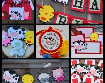 Farm Birthday Party Package, Barn Birthday Party, Farm Animal Decor