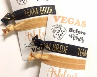 Las Vegas Bachelorette Party Hair Tie Favors, Vegas before Vows, What happens in Vegas Stays in Vegas, Las Vegas Birthday Favor, Vegas Party