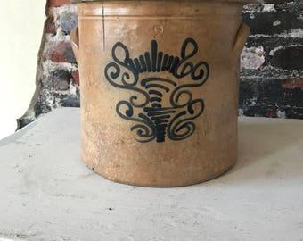 Primitive 2 Gallon Cobalt Crock Unknown Maker