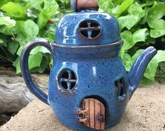 Teapot Fairy House, Fairy House, Fairy Cottage, Fairy Accessories