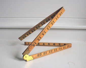rabone and son boxwood antique folding wooden ruler tool