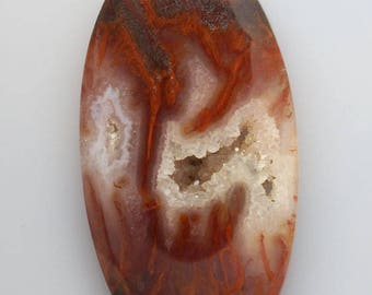 Large Flame Agate Cabochon