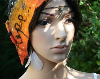 """Orange headband/belt - """"Princess pea - Hope..."""""""