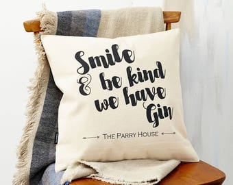 Personalised | Smile | Family | New Home | Cushion