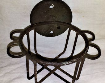 Antique metal wire cup holder, bathroom