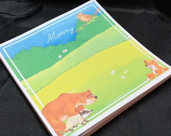 Personalized Forest Friends Lunchbox Lovey Note Pad