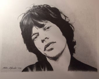 Mick Jagger print signed & numbered.