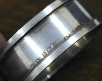 antique sterling silver oval shape napkin rings hallmarked 1946