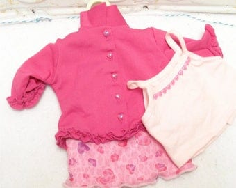 American Girl Today VALENTINE PARTY Pleasant Co Outfit Skirt Cami Jacket