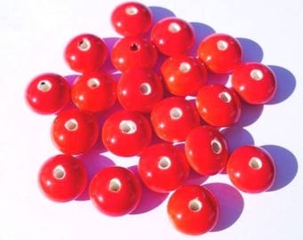 10 Handmade PORCELAIN Beads 12x12x7mm - COD0134