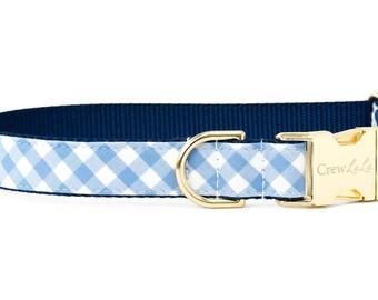 Crew LaLa ™ Periwinkle Picnic Plaid Dog Collar