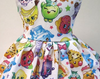 Shopkins Packed Rainbow Celebration, Sleeveless Dress for your 18 Inch Doll A