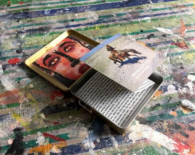 "cigar-tin story / art object / art tin / short story / art gift / literary gift / decorating / ""Endings 26, 29, 33 and 44"""