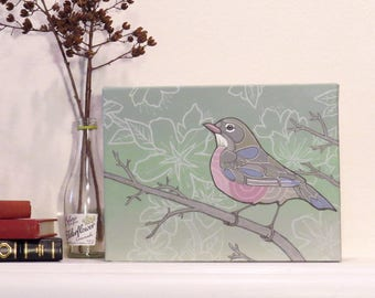 Robin Awaiting Spring - Original Painting