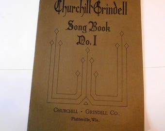 Antique Churchill-Grindell SONG BOOK Sheet Music Early 1900's 1905 - Preschool, Primary and Elementary School Children - State Normal School