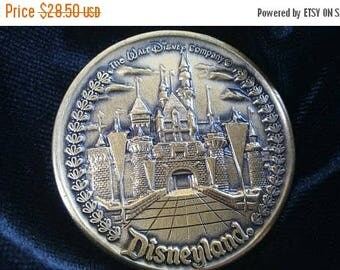 On Sale 1970's 1980's Walt Disney Disneyland Magic Kingdom Mickey Mouse Medal Token Authentic Coin Collectible Disneyana Snow White Castle