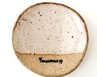 FRIENDSHIP Mini- Rustic Gift |Tea Bag Holder | Inspirational Gifts | Stoneware Favors | #SDMINI3-FR