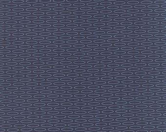 20 % off thru 7/4 SERENITY- Moda fabric  by the half yard - AMY ELLIS-lt blue ovals gems on indigo blue 100 Percent quilt weight cotton 3507