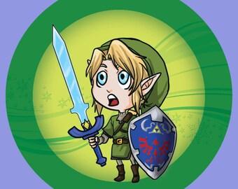 "2.25""inch Link Legend of Zelda Button"