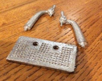 Double bar tap kit for dollhouse bar or soda fountain 1/12 scale