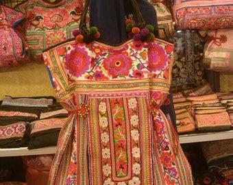 Tote/vintage -Tribal-Handmade Ethnic Hmong Bag 010