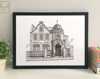 Crofton Park library giclee print